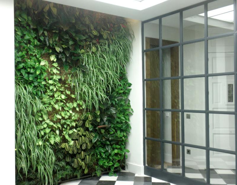 Jard n vertical de interior en madrid urbanarbolismo for Jardin vertical terraza