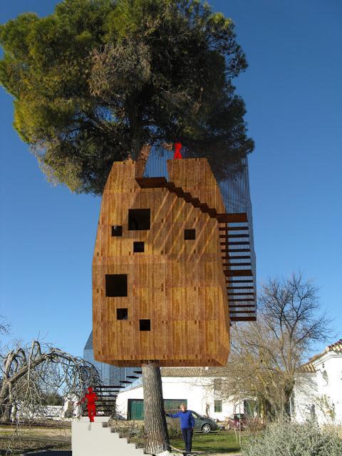 Boceto de casa en el árbol en Úbeda