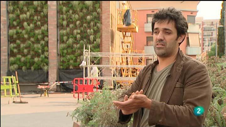 Reportaje de TVE sobre la construcción del jardín vertical de Rubí.