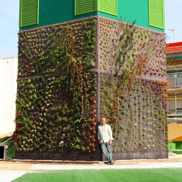 Naturalizaci n del jard n vertical de getafe urbanarbolismo for Jardines verticales casa