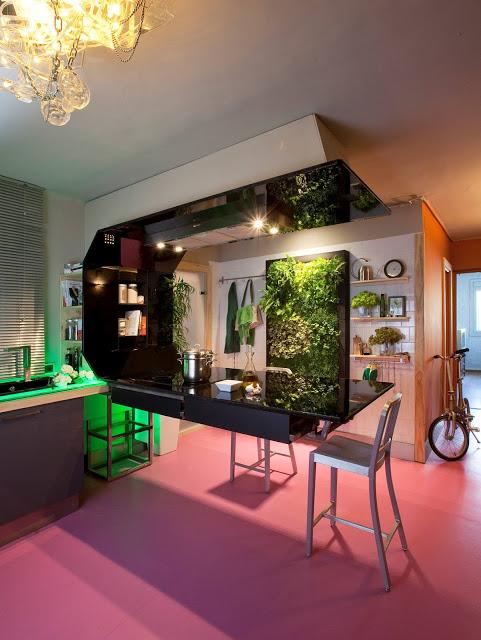 Jard n vertical de interior en la reforma de una cocina for Jardines verticales pdf