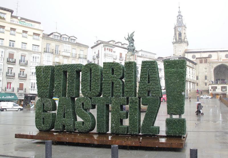 La escultura vegetal icono de Vitoria-Gasteiz