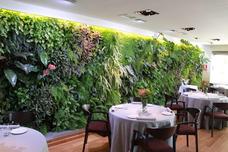 el primer jard n vertical de interior en espa a On el jardin vertical restaurante