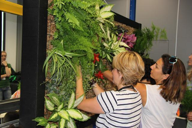 Imágenes del curso de jardinería vertical Mataró-Barcelona 2012