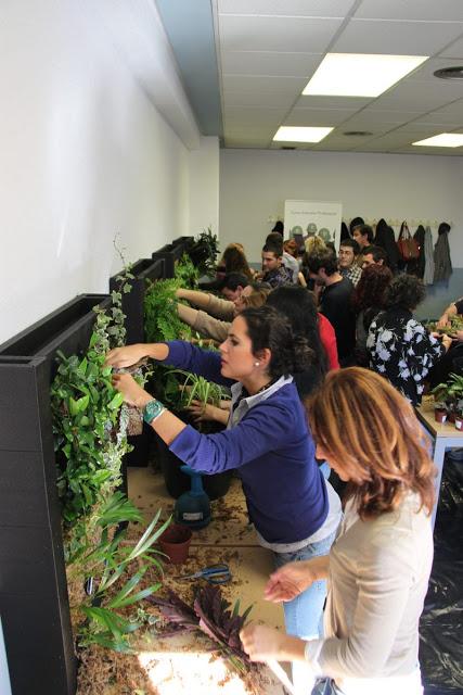 Apertura del plazo de matrícula curso de jardines verticales en Barcelona. 11 y 12 de Febrero.