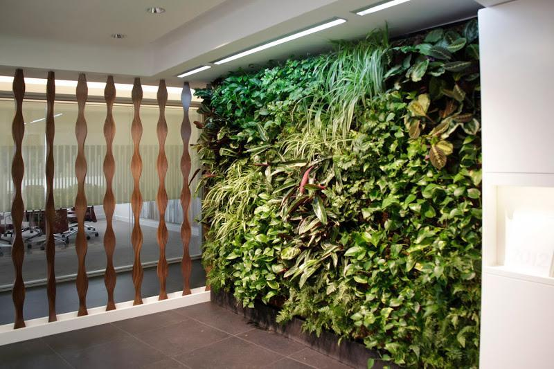 Jard n vertical interior leafbox en madrid urbanarbolismo for Jardin vertical interior