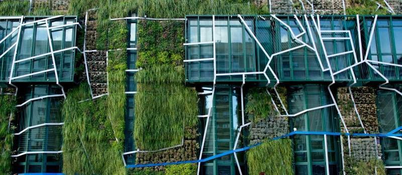 Fachada vegetal del Palacio de Congresos de Vitoria-Gasteiz.