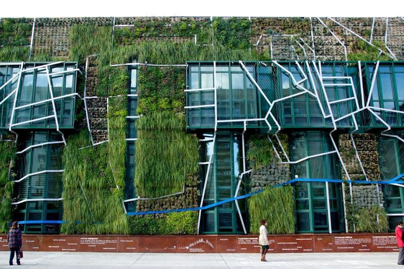 Fachada vegetal del Palacio de Congresos de Vitoria Gasteiz