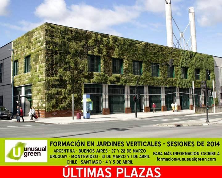 Últimas 5 plazas para el curso de jardines verticales de Argentina