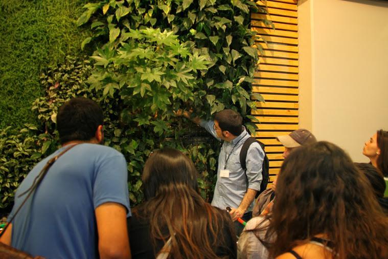 Imágenes del curso de jardines verticales en Santiago de Chile
