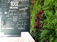 Jardín vertical en Barcelona, restaurante Organics