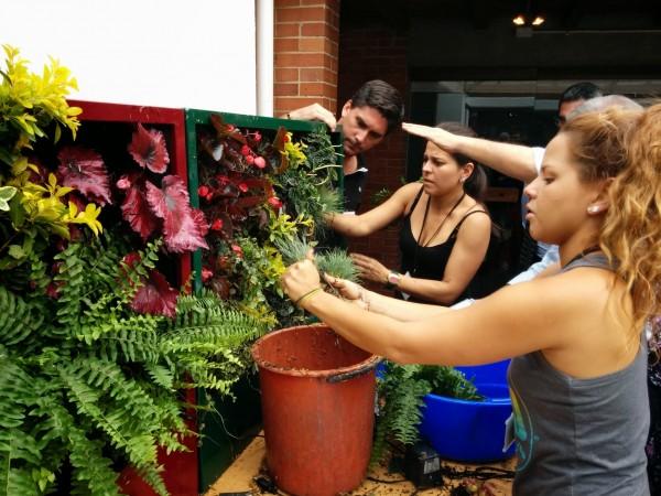 Xito del curso de jardines verticales en colombia for Piscinas ecologicas pdf