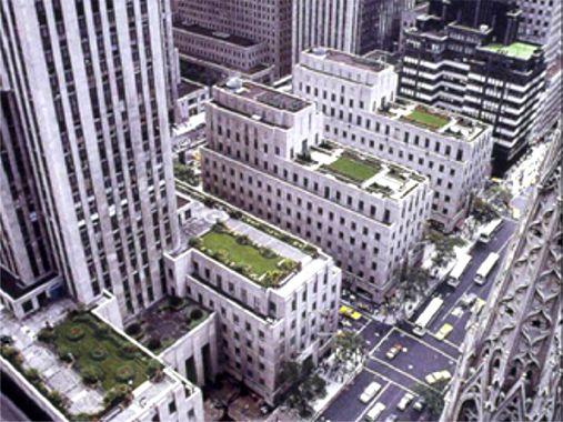 Cubiertas vegetales en el Rockefeller Center