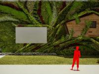 Jardín vertical + Casa en el árbol en Madrid