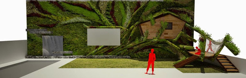 Casa en el rbol integrada en un jard n vertical for Piscinas ecologicas pdf