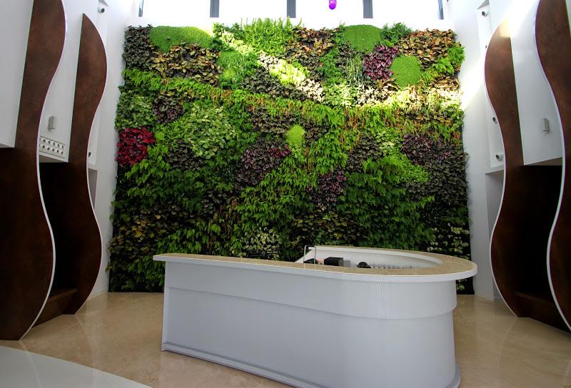 Jard n vertical interior en matimex castell n for Piscinas ecologicas pdf