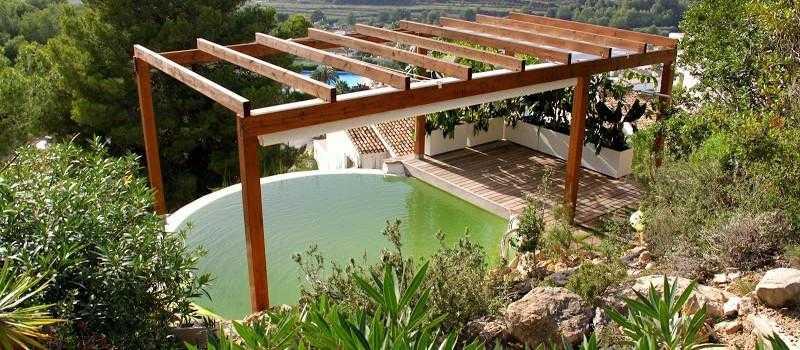 Primera piscina natural depurada por un jardín vertical.