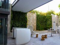 Jardín vertical acuapónico en el Hotel Cap Negret, Altea.